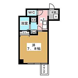 Bell Forme平安[4階]の間取り