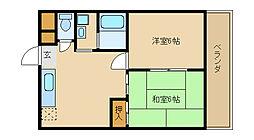 アビタシオン・リオ・1[4階]の間取り