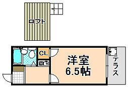 兵庫県川西市霞ケ丘1丁目の賃貸アパートの間取り