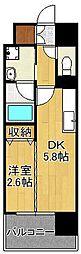デザイナーズ・ザ・レトロ 10階1DKの間取り