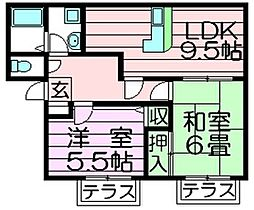 ヴァロンドール角田 角田2 吉田15分[1階]の間取り