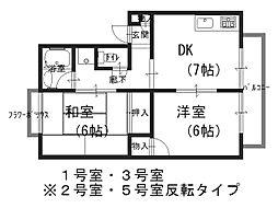 モアクレスト北花田[203号室]の間取り