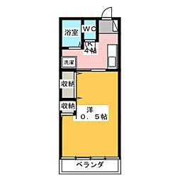 マンション 滝屋[2階]の間取り