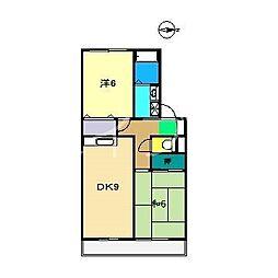 セジュールアジロA棟[1階]の間取り