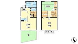 [タウンハウス] 兵庫県姫路市飾磨区中島 の賃貸【/】の間取り