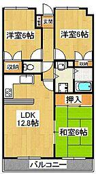 ルーラルタウン弐番館[1階]の間取り
