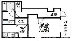 [テラスハウス] 大阪府大阪市住吉区山之内1丁目 の賃貸【/】の間取り