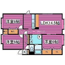 北海道札幌市北区屯田十条3丁目の賃貸アパートの間取り