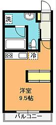 埼玉県北本市深井1丁目の賃貸アパートの間取り