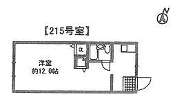 クローバーリーフ塚口[215号室]の間取り