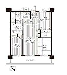 KS桜川[7階]の間取り