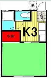 メゾン三恵[1階]の間取り