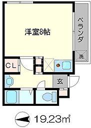 第一吉田ハイツ[2階]の間取り
