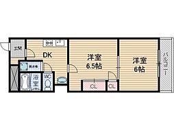 山崎第3マンション[4階]の間取り