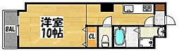 ロイヤルリバービュー[8階]の間取り