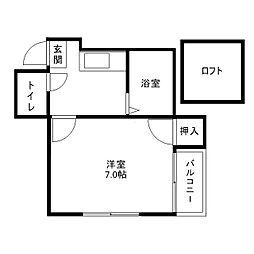 ハウゼ六本松[1階]の間取り