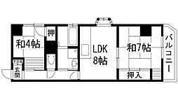 兵庫県宝塚市福井町の賃貸マンションの間取り