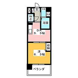 ソフィアOSK[4階]の間取り