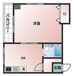 中ノ島ハイム[2階]の間取り