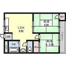 メゾン富田[3階]の間取り