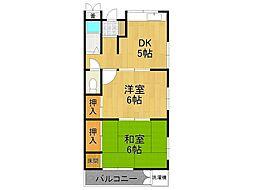 宏陽荘[2階]の間取り