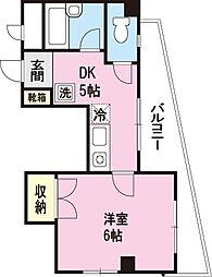エトワール関谷[201号室]の間取り