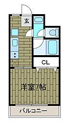 クレセント・O[3階]の間取り