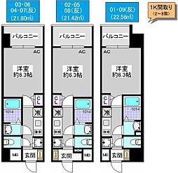 アドバンス大阪ドーム前アヴェニール[4階]の間取り