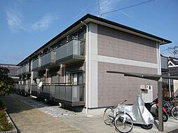 滋賀県東近江市宮荘町の賃貸アパートの外観