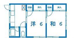 沢渡加藤荘[102号室号室]の間取り