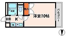 CPF 1階1Kの間取り