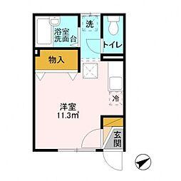 千葉県柏市西町の賃貸アパートの間取り