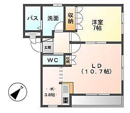 愛知県名古屋市緑区大高町字中ノ島の賃貸マンションの間取り