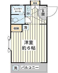 ローズアパートC棟[2階]の間取り