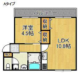 ふくろやマンション[2階]の間取り