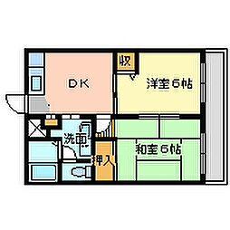 兵庫県尼崎市久々知1丁目の賃貸マンションの間取り