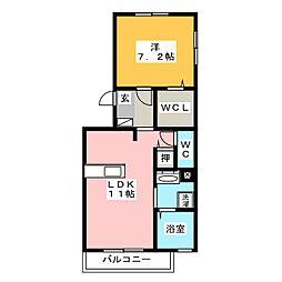 (仮)D-room竹ノ岬[1階]の間取り