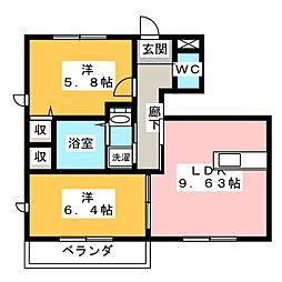 ルフレ[1階]の間取り