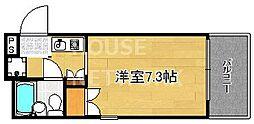 デ・リード京都東洞院[401号室号室]の間取り