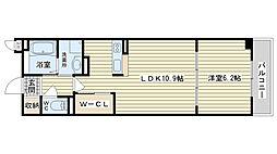 大阪府高槻市辻子1丁目の賃貸マンションの間取り