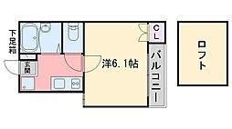 ピュア別府弐番館[1階]の間取り