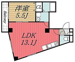 JR内房線 本千葉駅 徒歩5分の賃貸マンション 3階1LDKの間取り