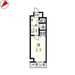サンクフルネス[2階]の間取り