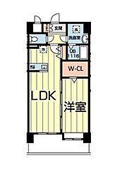熊本電気鉄道 北熊本駅 徒歩5分の賃貸マンション 4階1LDKの間取り