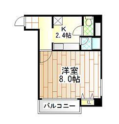 リ・ズィエール[3階]の間取り