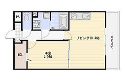 PlaineUriwari(プレーヌうりわり)[107号室]の間取り