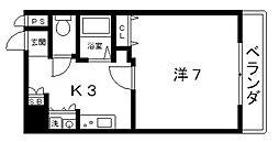 ウーロ上六[8階]の間取り