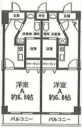 エムゼック・ルネス横須賀[209号室]の間取り