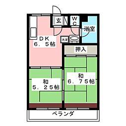 サンハイツ柏木[8階]の間取り