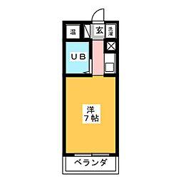 渡辺第1ビル[4階]の間取り